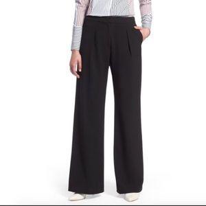 ❤️4/$25 NWT TALL HALOGEN Wide Leg Black Pants sz 6